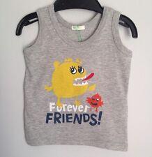 Benetton Designer Baby 3-6 Months Monster Friends Grey Vest BNWT Boys Girls