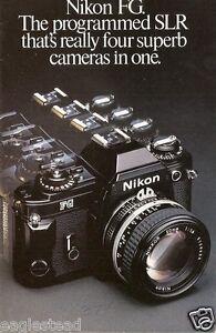 Camera Brochure - Nikon - FG - 1982  (CB28)