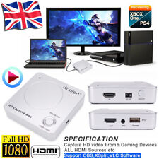 Live Stream HD video Game Capture Box 1080P HDMI Recorder Xbox 360,One PS3 PS4 K