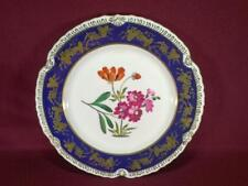 "#12 CHELSEA HOUSE K494 FLORAL DECORATIVE DINNER PLATE 10.75"" - COBALT/GOLD"