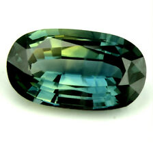 Certified Natural Sapphire 0.98ct Bicolor Yellow Green Oval 7.93x4.57 Madagascar