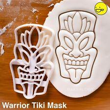 Warrior Tiki Mask cookie cutter  Maori Luau Hawaiian resort Polynesian mythology