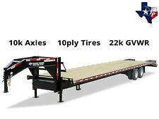 New 2018 Texas Pride 8½' x 35' (30'+5') Equipment Trailer, 22k gvwr