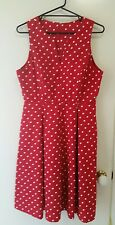 NEW Vintage inspired red polka dot dress, size 12-14