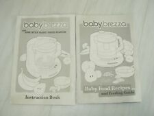 Baby Brezza Brz0039 One Step Baby Food Maker Instruction Book Manual & Recipes