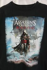 "Men's Assassin's Creed IV Black ""Black Flag"" T Shirt Size XL Pre-owned"