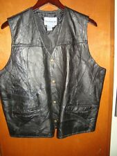 leather vest by direct source inc size medium
