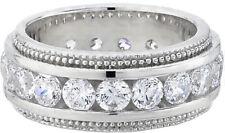 Wedding Band 21 x 0.10 ct Size 6 2.10 carat round Diamond Eternity Ring 14k Gold