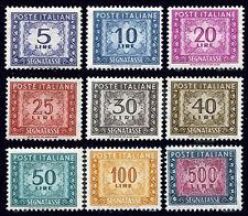 VF2461 ITALIA 1955-81 Segnatasse stelle serietta 9 v. **