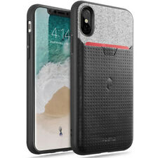 For iPhone X / iPhone XS Poetic【Nubuck】Stylish thin TPU / Leather Case 3Color