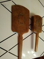 Vintage Art Deco Celluloid Bakelite Mirror and Brush 2 pieces Dresser Vanity Set