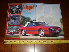 1985 FORD MUSTANG GT CONVERTIBLE  - ORIGINAL 1999 ARTICLE