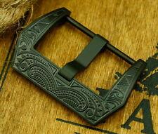 Edle Schließe Buckle 20 mm Black f. Staps Ammo Uhrenbänder Vintage Pam Retro