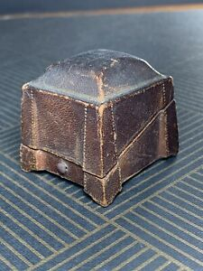 Antique Art Deco Leather Jewellery Ring Box Used  No 6