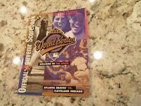1995 World Series Official Souvenir Scorebook Program Braves Indians MLB