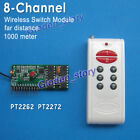 DC 5V 8CH Channel Wireless Relay Switch RF Remote Control Transmitter  Receiver