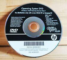 Operating System DVD Windows Vista Business Service Pack 1 483886-B21