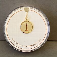 NIB Alex and Ani Sterling Silver & Gold Plated Initial L Chain Station Charm