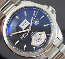 TAG HEUER GRAND CARRERA WAV5111 GMT   BOX/PAPERS /1 YR  GTEE 2009 YR EXCELLENT