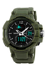 MENS SHOCK Military Quartz Watch 5ATM Waterproof Analog Digital Alarm Wristwatch