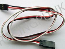 600mm 60cm Servo Extension Lead Wire Futaba gold Connectors male & female Plugs
