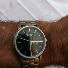 """Nixon """"THE SMALL KENSINGTON"""" stainless steel watch with NEW BATTERY"""