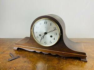 Antique Napoleon Hat Mantel Clock H.A.C Chiming 8 Day Movement Art Deco 1930s