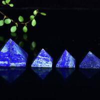 45-55mm Natural Lapis Lazuli Gemstone Pyramid Healing Specimen Decoration 1pc