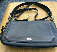 Karl Lagerfeld Black Leather Bag. New