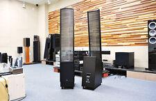 Martin Logan ElectroMotion ESL Speakers Hand-Wired Vojtko X-Over | Satin Black
