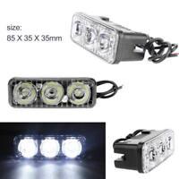 12V 18W 3LED Work Light Hi/Lo Beam Car DRL Bar Flood Driving Fog Lamps Off Road