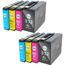 8PK Compatible Ink Cartridges for HP 932 933 XL OfficeJet 6600 7610 6700 Premium