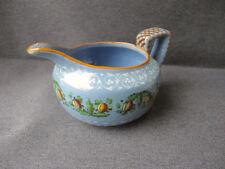 Vintage Molaroni Italy hand painted pomegranates leaves pottery ceramic milk jug