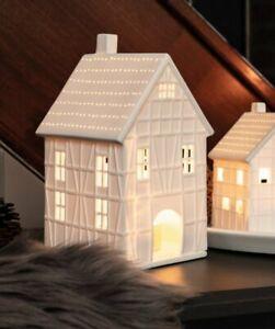 RÄDER Design Fachwerkhaus gross 19 cm Porzellan weiß - NEU