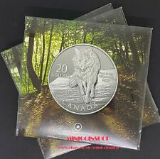 Canada 2013 $20 for $20 Wolf Fine Silver Coin