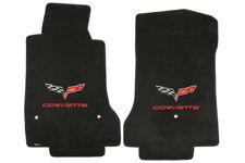 C6 Corvette 2007L-2013E Lloyd Velourtex Front Floor Mats - Logo and Lettering