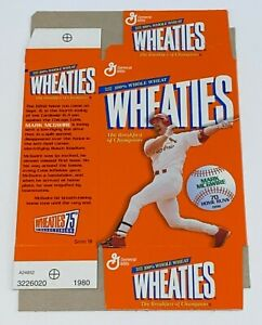 1999 General Mills Wheaties Cereal Box Mini Mark McGwire 70 Home Runs (Unfolded)
