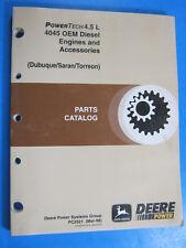 JOHN DEERE POWER TECH 4.5 L OEM DIESEL 4045 PARTS CATALOG PC2521 MANUAL