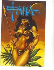 Fana #1 vfn 1990  Burcham Studio Good/ Bad girl scarce US Comics