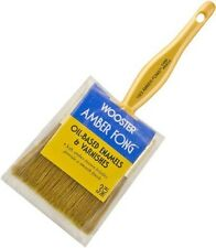 """Wooster 3"""" Flat Amber Fong Paint Brush Natural China Bristle Oil Paint Stain"""