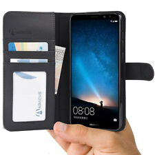 Black Wallet Case Flip Cover for Huawei Mate 10 Mate10 Lite - by Abacus24-7