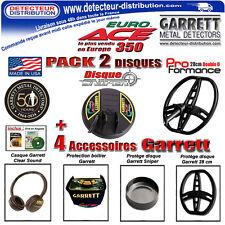 PROMO !!! Garrett Euro Ace 350 Pack 2 Disques + 4 Accessoires pour EuroAce