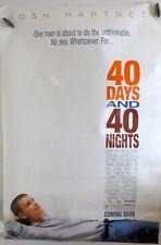 "40 Days & 40 Nights - 27""x40"" 2 Sided ORIGINAL Movie Poster - Josh Harnett"