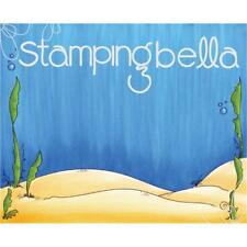 New Stamping Bella Cling Rubber Stamp under the sea backdrop for new littles set