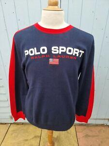 Polo Sport Ralph Lauren Spellout Sweater Blue Large BNWT