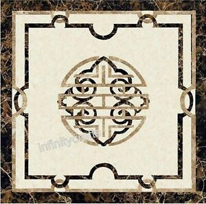 24 Inches Marble Coffee Table Top Marquetry Art Royal look Sofa Table for Home