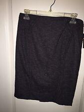 New WT BCX Women's Black W/ White/Grey Specks Size 9 Pencil Skirt W/ Pleats