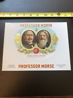 Antique Cigar Box Label- Professor Morse- Cuban Cigar Company
