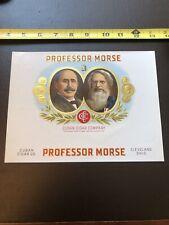 Antique Cigar Box Label- Professor Morse- Cuban Cigar Company