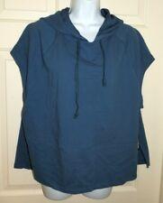 5edad2cd778b40 Womens 2xl 20 Blue Avia Crop Hoodie Hooded Jacket Short Sleeves